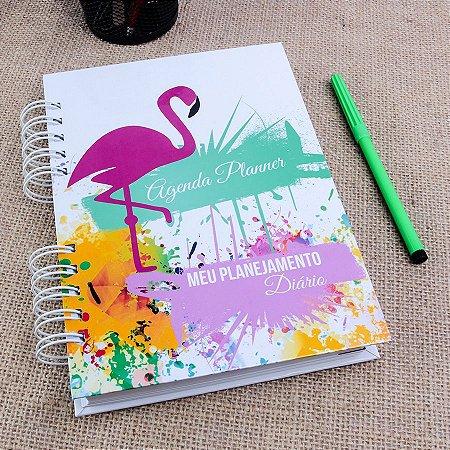 Agenda Planner Personalizada Flamingo | Personalize a Capa e Mês de Início |Ver Descrição | M48