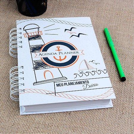 Agenda Planner Personalizada Farol Naval | Personalize a Capa e Mês de Início |Ver Descrição | M51