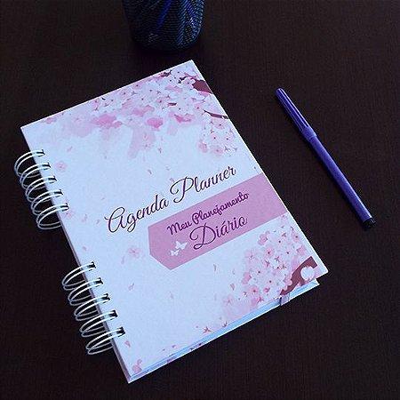Agenda Planner Personalizada Flores | Personalize a Capa e Mês de Início |Ver Descrição | M89