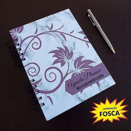 Agenda Planner Personalizada Mármore FOSCA | Personalize a Capa e Mês de Início |Ver Descrição | M101