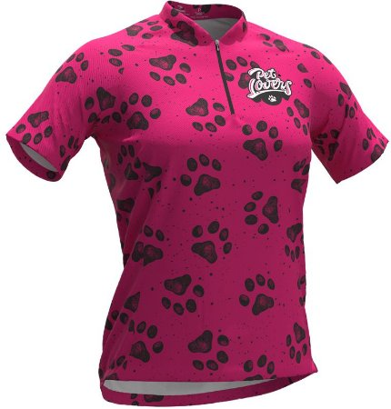 Camisa De Ciclismo Feminina Pet Lovers Dog Rosa