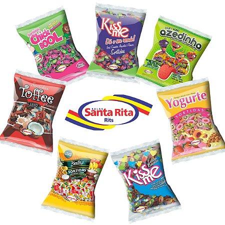 Combo Balas Sortidas 7 pacotes 600g cada -  Santa Rita