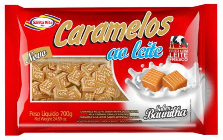 Caramelos ao Leite Santa Rita - Baunilha 700g