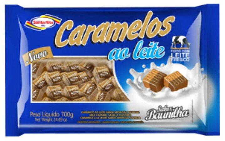 Caramelos ao Leite Santa Rita - Chocolate com Baunilha 700g