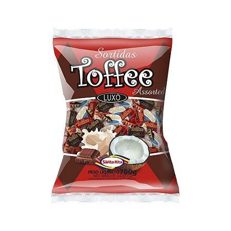 Bala Santa Rita Mastigável Toffee Sortidas 600g