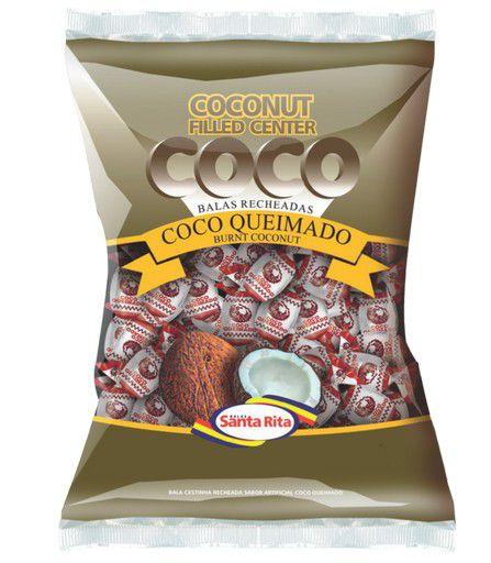 Bala Coco Queimado 600g -  Santa Rita