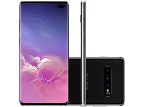 "Smartphone Samsung Galaxy S10+ 128GB  4G - 8GB RAM Tela 6,4"" Câm. Tripla + Câm. Selfie Dupla"