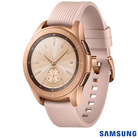 """Galaxy Watch BT 42mm Samsung Dourado com 1,2"""", Pulseira de Silicone, Bluetooth 4.2 e 4 GB"""