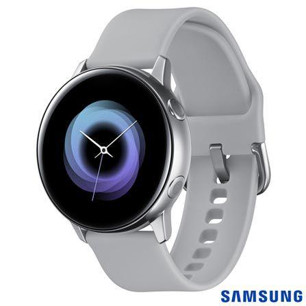 Galaxy Watch Active Samsung com 39,5 mm, Pulseira de Silicone, Bluetooth, NFC e 4GB