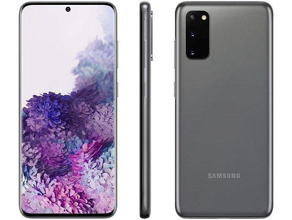 "Celular Samsung Galaxy S20 8GB RAM Tela 6.2"" 128GB Câmera 64MP 12MP 12MP"