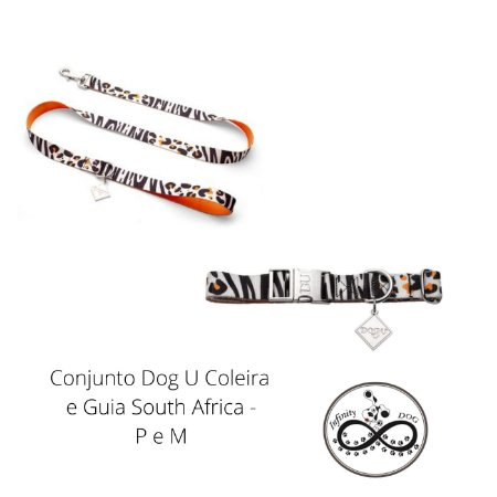 Conjunto Dog U Coleira e Guia South Africa