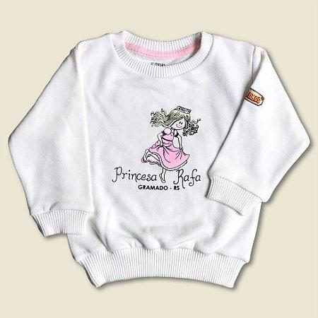 Blusão Moletom Princesa Rafa