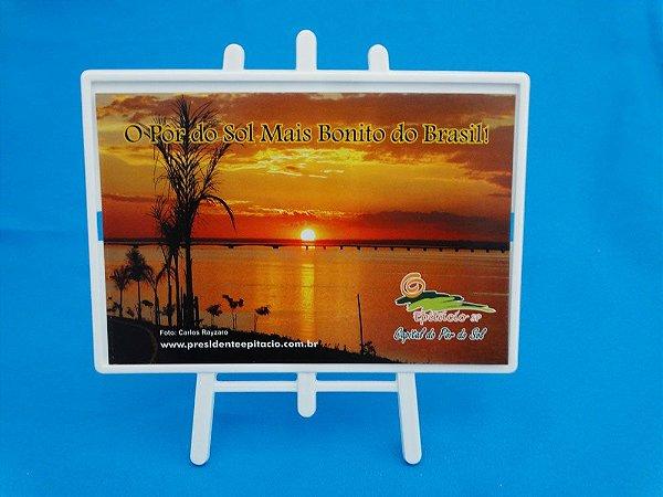 Porta Fotos Cavalete Pôr do Sol mais bonito do Brasil