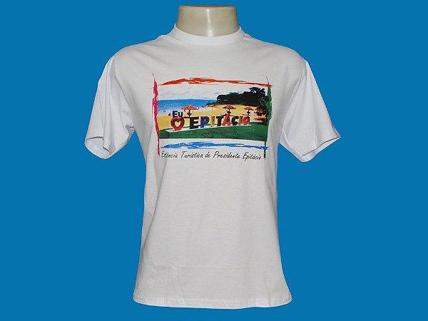 Camiseta Letreiro Eu Amo Epitácio