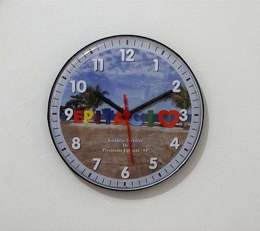 Relógio de Parede Disco - Letreiro Epitácio