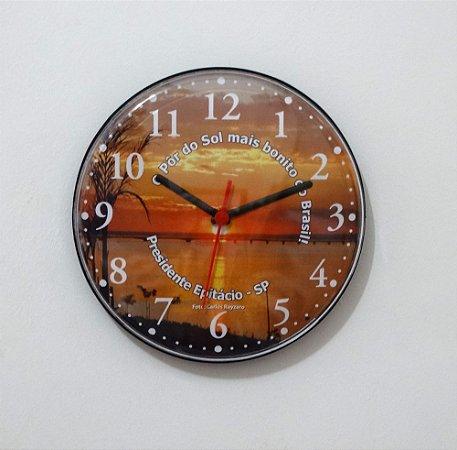 Relógio de Parede Disco - Pôr do Sol