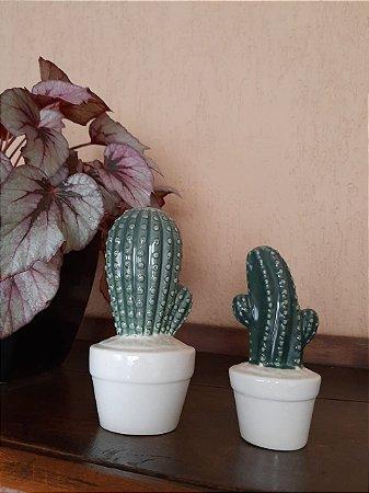 Cacto Decorativo Porcelana - 2 peças