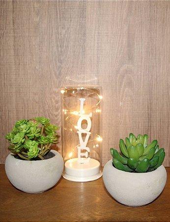 Luminária LED Cúpula Love