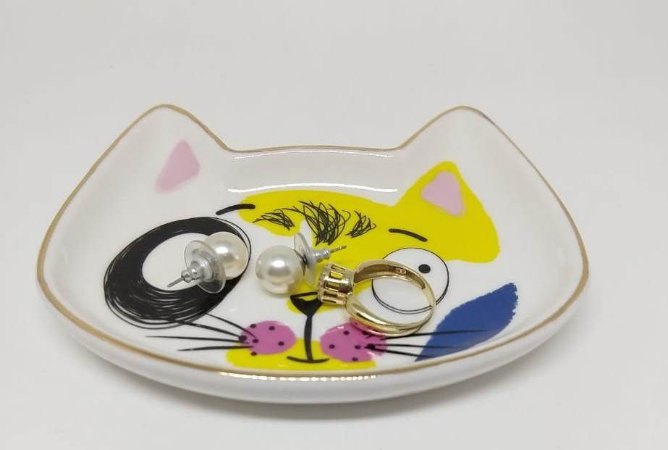 Porta-joias Gatinho Colorido
