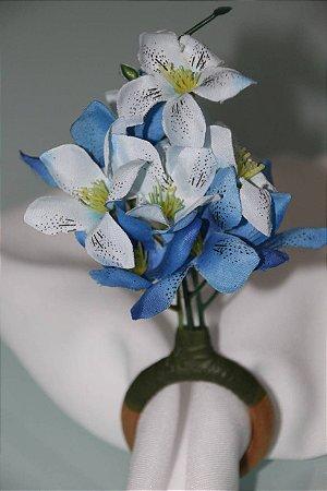 Porta Guardanapo Azul e Branco