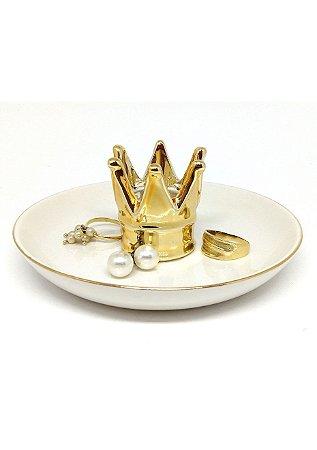 Porta-joias de Porcelana Coroa