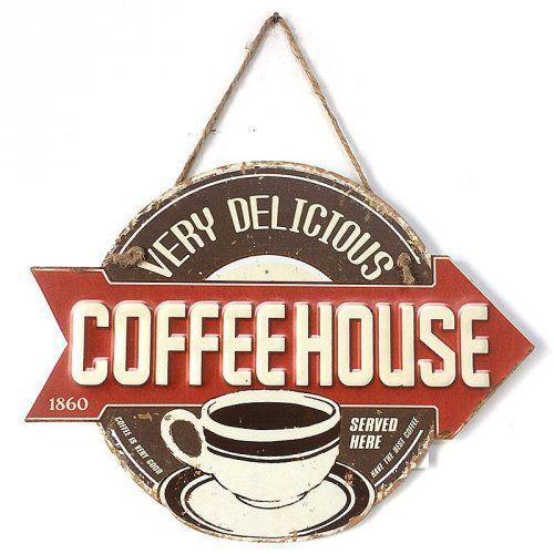 Placa de Metal Café