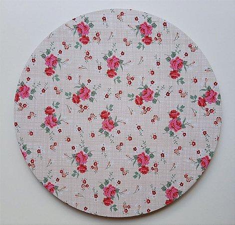 Capa para Sousplat Flor Vermelha