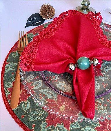 Capa para Sousplat Bico de Papagaio Natal