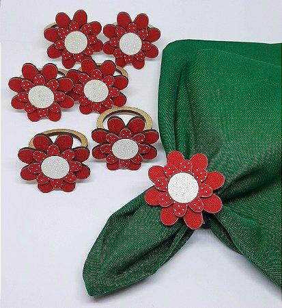 Porta Guardanapo Flor em MDF