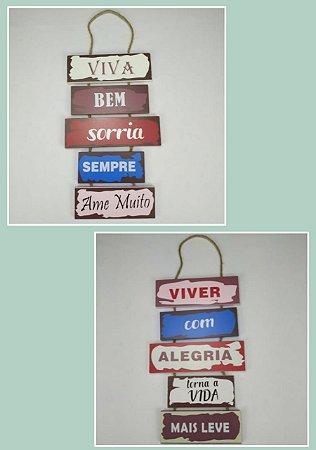 Placas Decorativas de Madeira