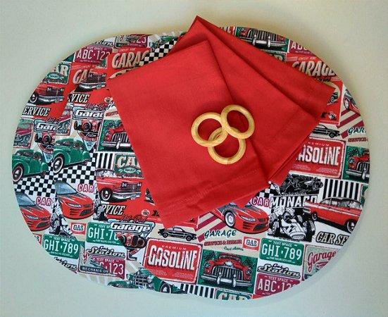 Kit Carro Vermelho - 9 peças