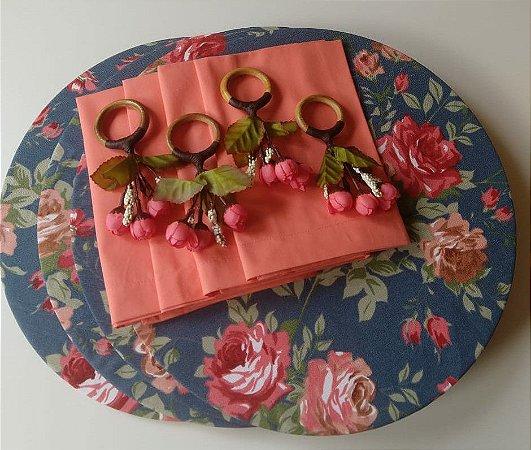 Kit Floral Jeans - 12 peças