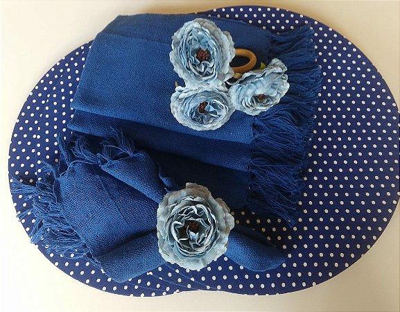 Kit Poá Azul - 12 peças
