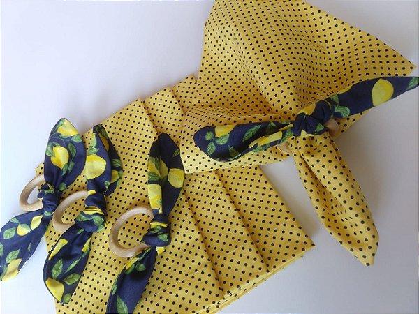 Kit Poá Amarelo - 8 peças
