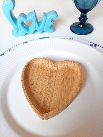 Bandeja de Bambu Coração - P