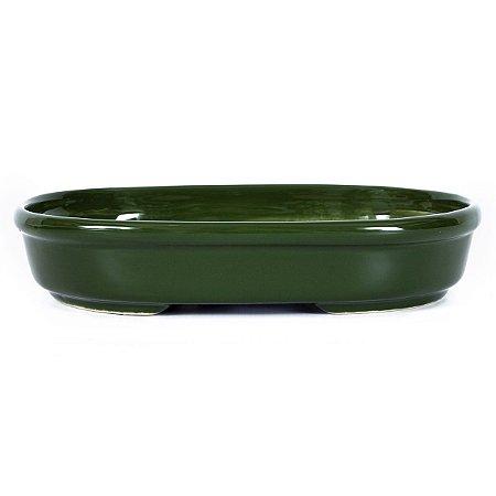 Vaso para Bonsai Petrópolis Esmaltado Oval 20 x 14 x 4 cm