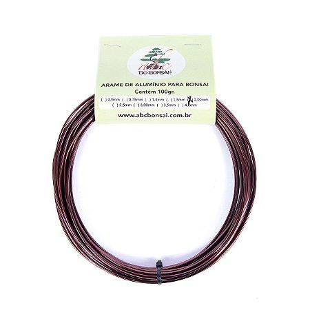 Arame de Alumínio Esmaltado Especial Para Bonsai 2,0 mm