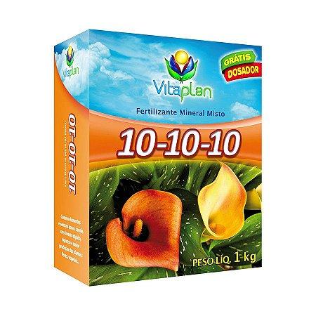 Adubo Mineral Vitaplan 10-10-10 com Dosador Grátis 1 kg