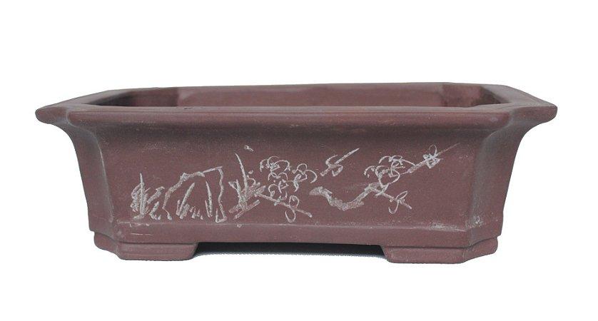 Vaso Retangular Importado Chinês 28 x 21 x 7 cm