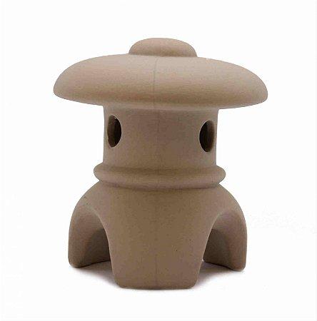 Lanterna Japonesa para Jardim e Bonsai com Telhadinho Redondo - Toro Cerâmica 7,5 cm X 8 cm