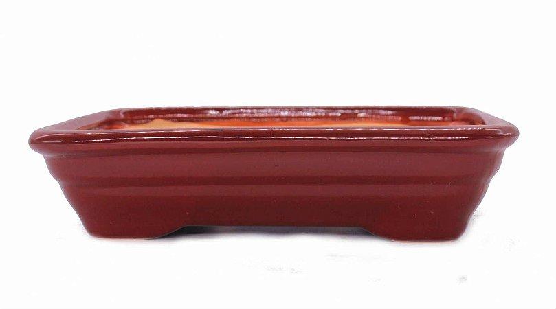 Vaso para Bonsai Petrópolis Retangular Esmaltado 27 x 19 x 6,5 cm