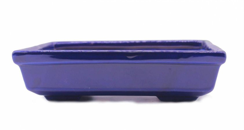 Vaso para Bonsai Petrópolis Retangular Esmaltado 22 x 14,5 x 6 cm