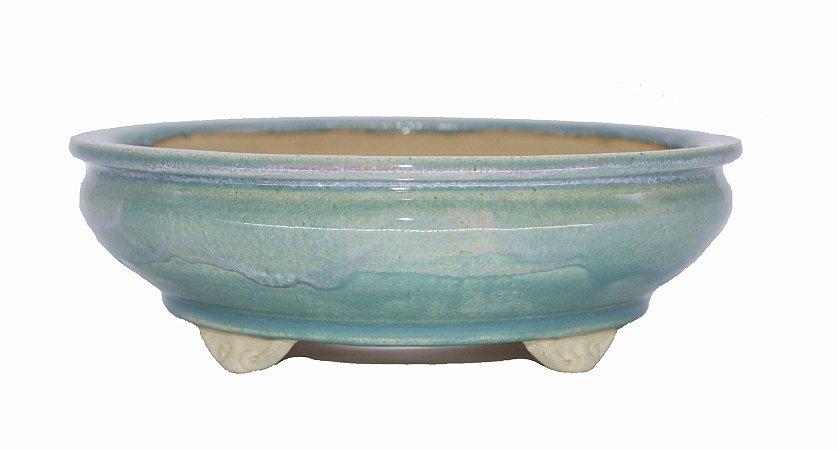 Vaso Redondo Esmaltado Onodera 23 X 23 X 7,5 cm
