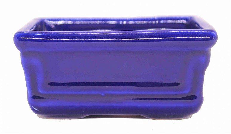 Vaso para Bonsai Petrópolis Retangular Esmaltado 12 x 8 x 6 cm