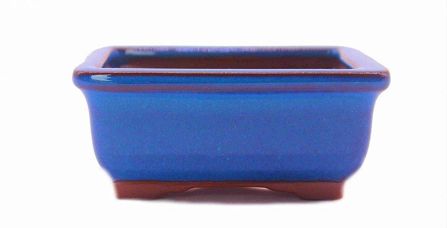 Vaso Retangular Esmaltado Literato Para Bonsai Mame 10 X 8 X 4 cm