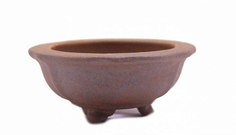 Vaso Redondo Para Bonsai Mame Terracota Jorge Ribas 8 X 3,5 cm