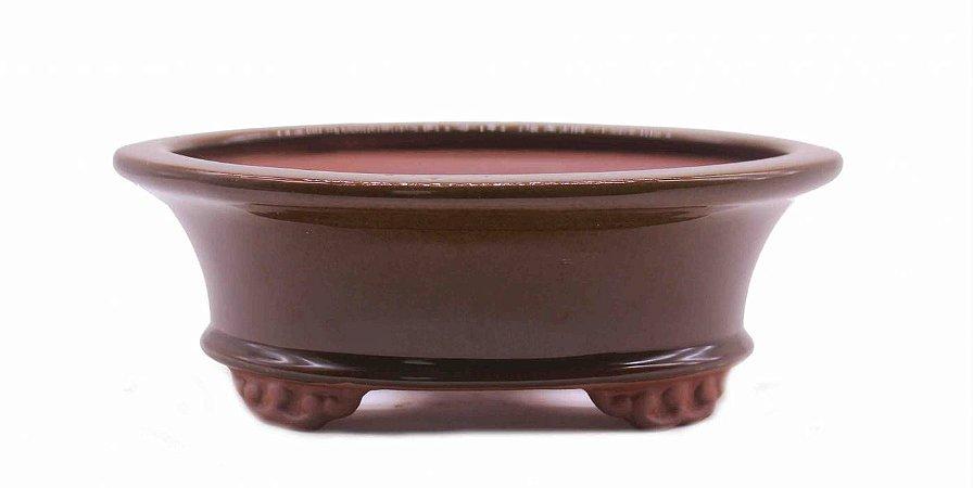 Vaso Oval Esmaltado Literato 18 X 14 X 6,5 cm