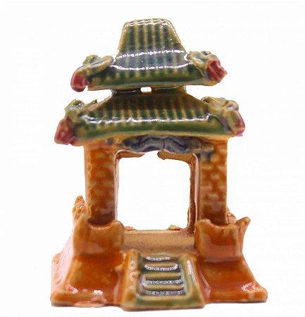 Miniatura de Templo Japonês Esmaltado 7 Cm (Importada)