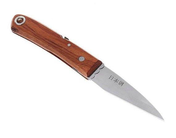 Faca / Canivete Dobrável De Enxerto Japonesa Aço Inox P/ Bonsai