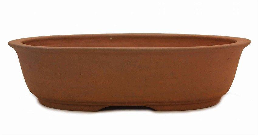Vaso Oval Terracota Jorge Ribas com Acabamento na Borda